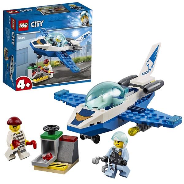 LEGO City 60206 Конструктор ЛЕГО Город Воздушная полиция: Патрульный самолёт конструктор lego city патрульный самолёт 54 дет 60206