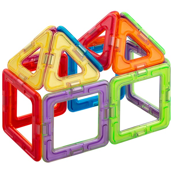 """Магнитой LL-1003 Конструктор магнитный """"6 квадратов, 8 треугольников"""""""