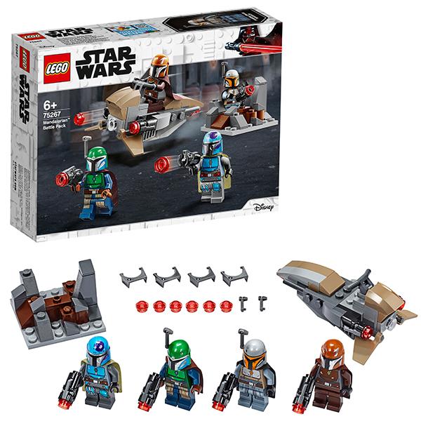 LEGO Star Wars 75267 Конструктор ЛЕГО Звездные войны Боевой набор: мандалорцы конструктор lego star wars 75133 боевой набор повстанцев