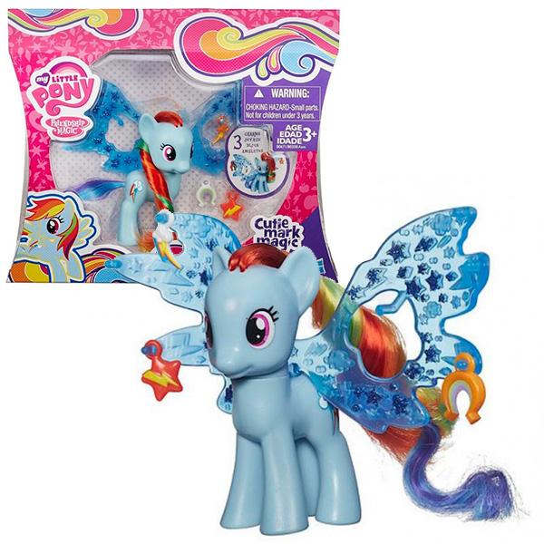 """Hasbro My Little Pony B0671_9 Май Литл Пони Рейнбоу Дэш """"Делюкс"""" с волшебными крыльями"""