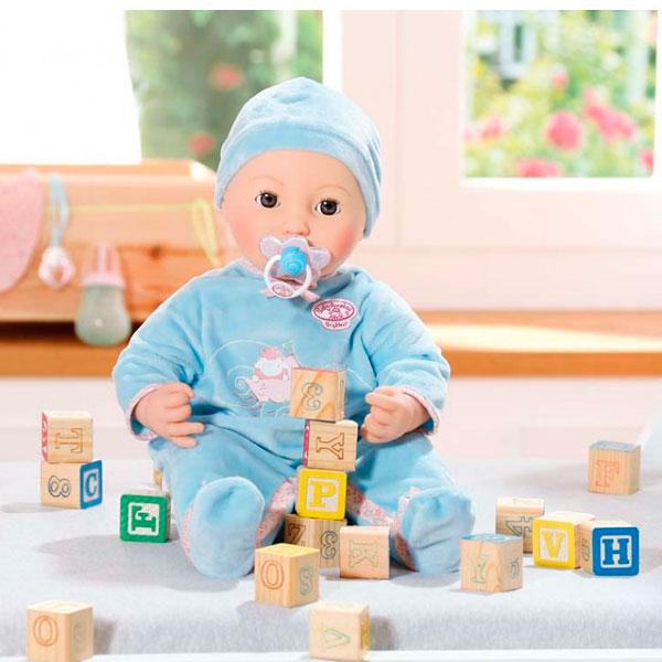 Zapf Creation Baby Annabell 794-654 Бэби Аннабель Кукла-мальчик многофункциональная, 43 см