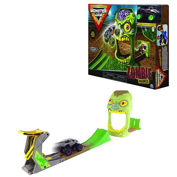 """цена на Monster Jam 6045029-ZOM Монстр Джем игровой набор машинок """"Зона Зомби"""" Zombie"""