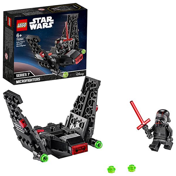 LEGO Star Wars 75264 Конструктор ЛЕГО Звездные войны Микрофайтеры: шаттл Кайло Рена детское лего sluban airbus lego b0366