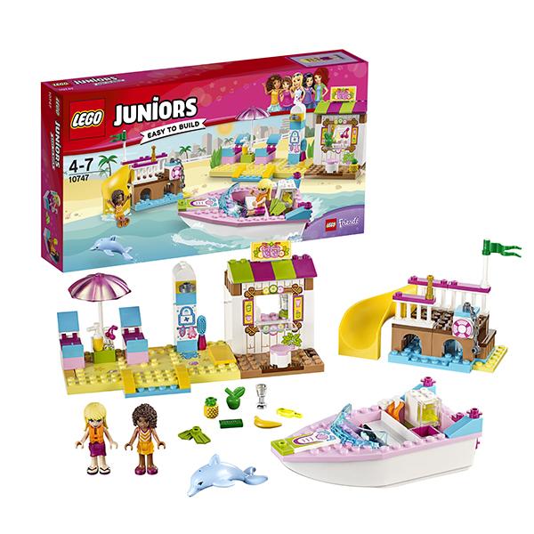 Lego Juniors 10747 Лего Джуниорс День на пляже с Андреа и Стефани lego juniors 10739 лего джуниорс ниндзяго нападение акулы
