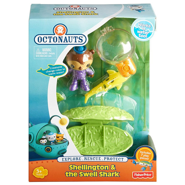 Mattel Octonauts Y1936 Октонавты Капитан Шеллингтон и рифовая Акула