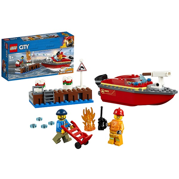 LEGO City 60213 Конструктор ЛЕГО Город Пожарные: Пожар в порту цена