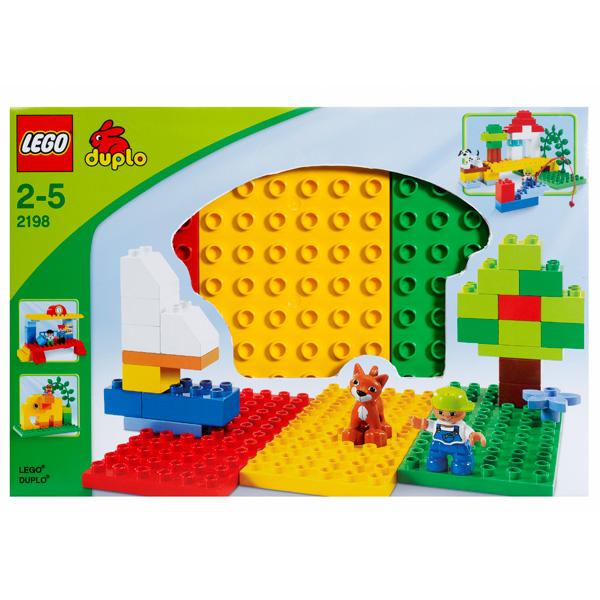 Lego Duplo 2198 Конструктор Три строительных пластины Дупло