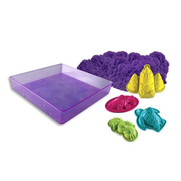 Kinetic sand 71402 Кинетик сэнд Кинетический песок для лепки + 4 формочки (в ассортименте) kinetic sand 71401 кинетик сэнд кинетический песок для лепки 170 г яркий цвет в ассортименте