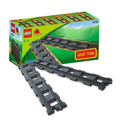 Lego Duplo 2734_1 Конструктор Лего Дупло 6 прямых рельсов