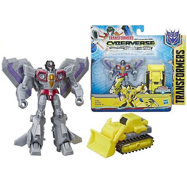 Hasbro Transformers E4219/E4298 Трансформеры КИБЕРВСЕЛЕННАЯ СПАРК АРМОР Старскрим 13 см. hasbro войны титанов вояджер дженерейшнс трансформеры b7769 b6459