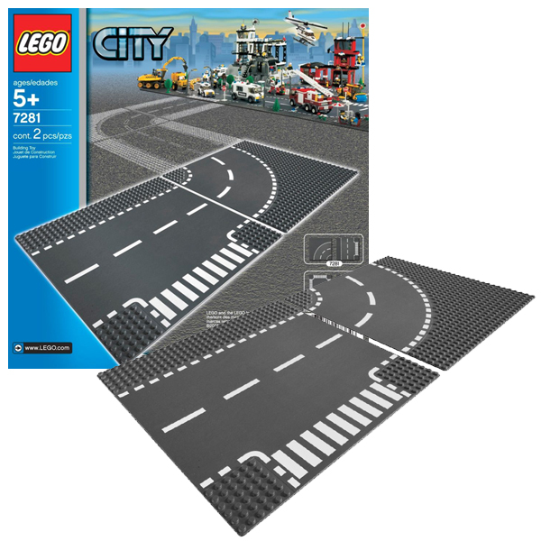 Lego City 7281 Конструктор Лего Город Т-образная развязка model building kits compatible with lego city fire car 586 3d blocks educational model