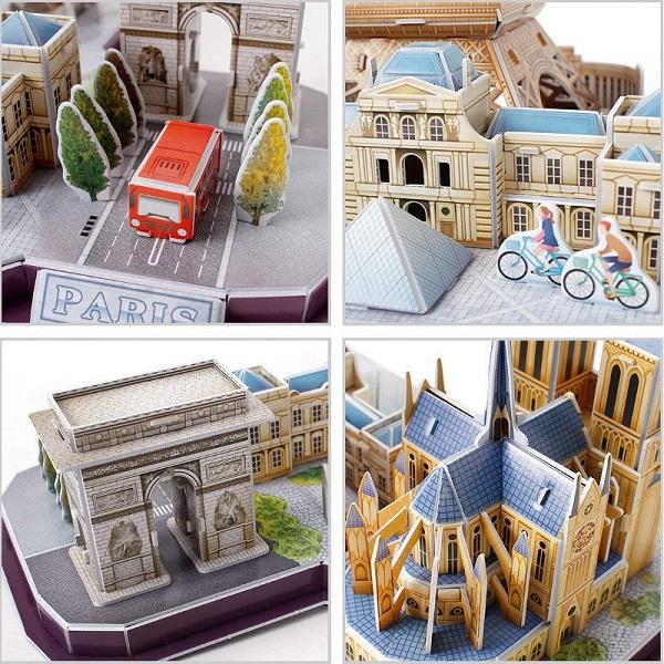 Cubic Fun MC254h Достопримечательности Парижа