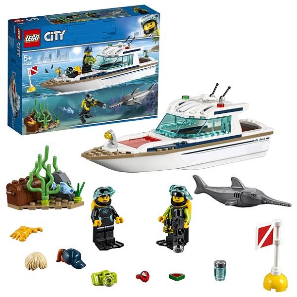 Lego City 60221 Конструктор Лего Город Транспорт: Яхта для дайвинга lego city 60153 лего город отдых на пляже жители lego city
