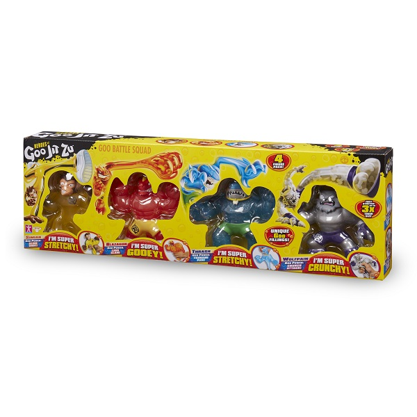 GooJitZu 38389 Гуджитсу Игровой набор 4 тянущиеся фигурки