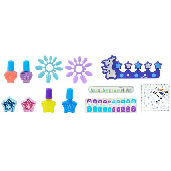 Markwins 9701851 Frozen Игровой набор детской декоративной косметики с сушкой лака