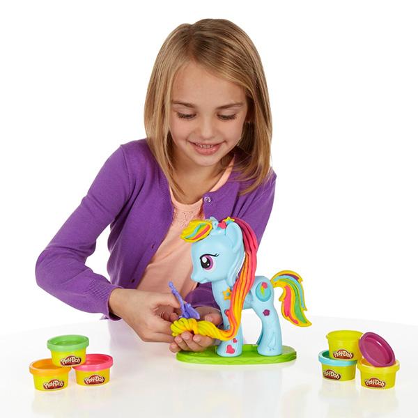 """Hasbro Play-Doh B0011 Игровой набор """"Стильный салон Рэйнбоу Дэш"""""""