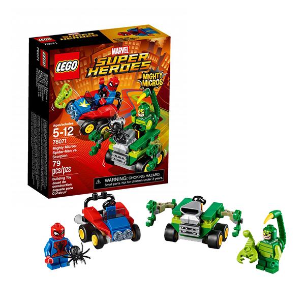 Lego Super Heroes Mighty Micros 76071 Конструктор Лего Супер Герои Человек-паук против Скорпиона lego super heroes 76058 лего супер герои человек паук союз с призрачным гонщиком