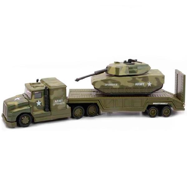 Soma 78558 Военный перевозчик + Танк 28 см машины mighty wheels soma военный перевозчик танк 28 см