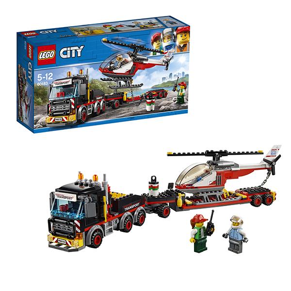 Lego City 60183 Конструктор Лего Город Перевозчик вертолета lego city 60110 лего город пожарная часть