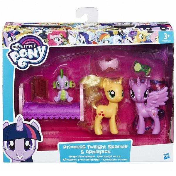 Hasbro My Little Pony B9160/B9850 Пони-модницы Принцесса Искорка и Эпплджек