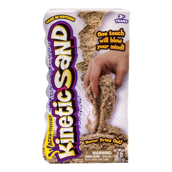 Kinetic sand 71400 Кинетик сэнд Кинетический песок для лепки 910 грамм, коричневый kinetic sand 71417 const кинетик сэнд игровой набор c формочками 285 г