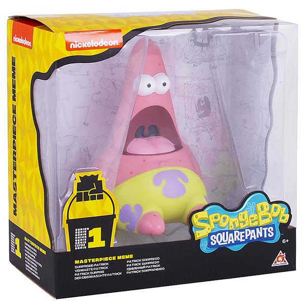 SpongeBob EU691003 Патрик удивленный (мем коллекция), 20 см, пластиковый