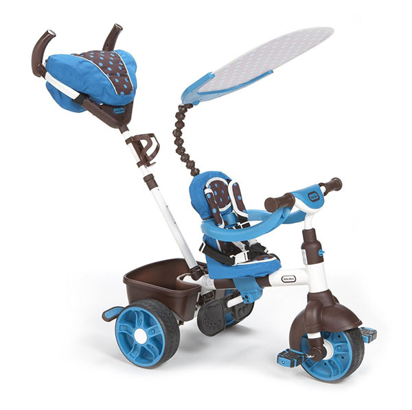 Little Tikes 634352 Литл Тайкс Велосипед 4 в 1, сине-белый