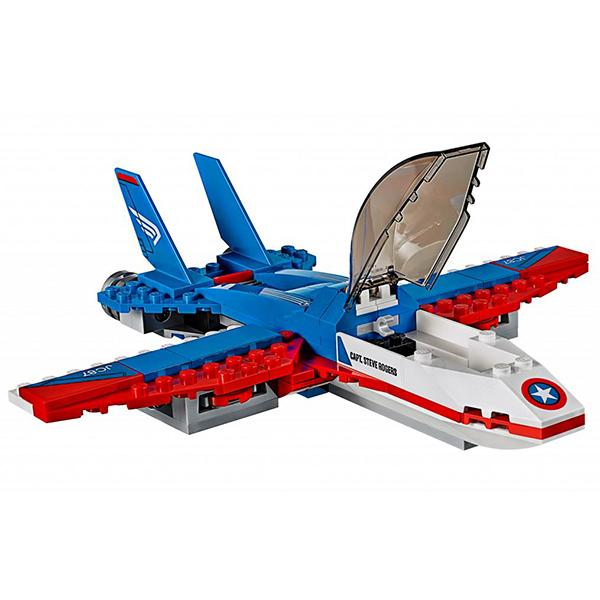 Lego Super Heroes 76076 Конструктор Лего Супер Герои Воздушная погоня Капитана Америка