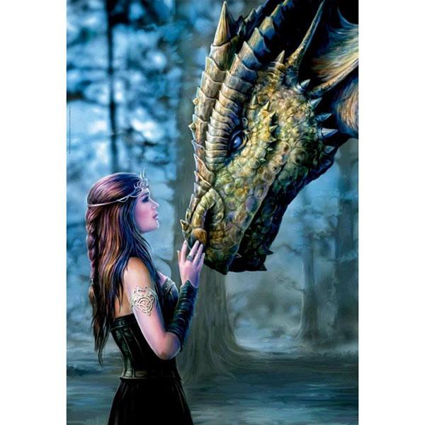 "Educa 17099 Пазл 1000 деталей ""Девушка и дракон"""