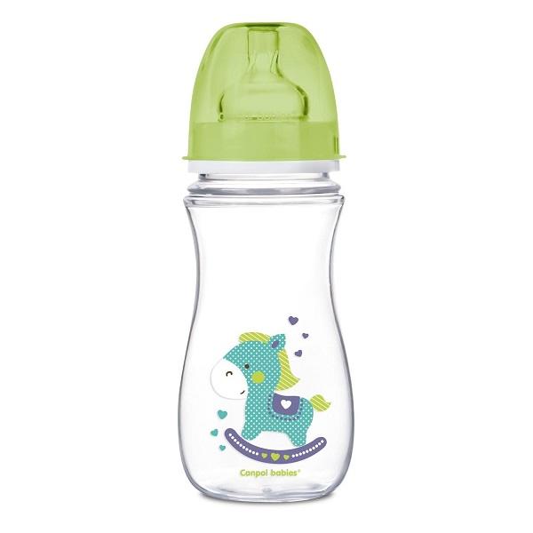 Canpol babies 250989199 Бутылочка PP EasyStart с шир. горлышком антиколиковая, 300 мл, 12+,(зеленый)