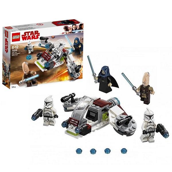Lego Star Wars 75206 Конструктор Лего Звездные Войны Боевой набор Джедаев и Клонов-Пехотинцев конструктор lego боевой набор галактической империи лего звездные войны