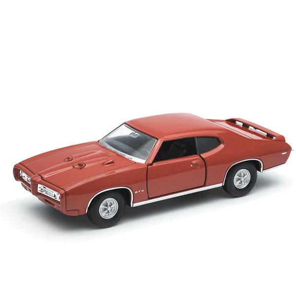 Welly 43714 Велли Модель винтажной машины 1:34-39 Pontiac GTO welly 49767 велли модель винтажной машины 1 34 39 ford mustang 1970