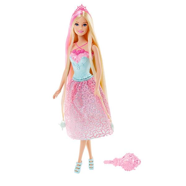 Mattel Barbie DKB60 Барби Куклы-принцессы с длинными волосами barbie голубое