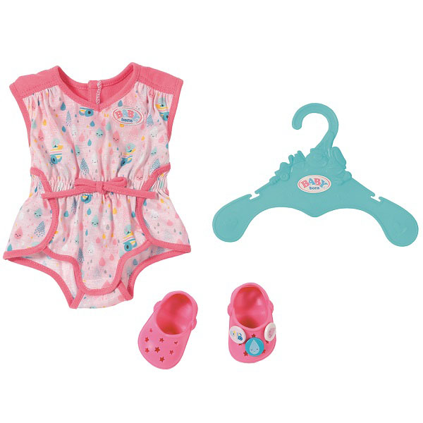 Zapf Creation Baby born 824-634 Бэби Борн Пижамка с обувью 2017 cute summer children kids girls vest dress kids sleeveless printing pattern cotton sundress vestidos lt02