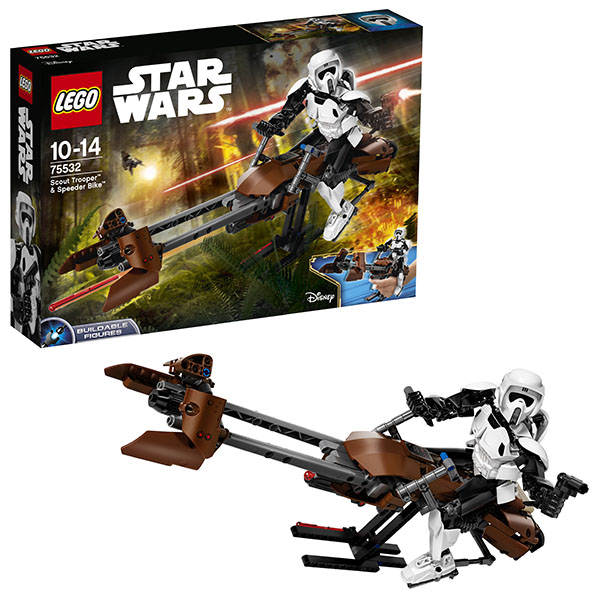 Lego Star Wars 75532 Конструктор Лего Звездные Войны Штурмовик-разведчик на спидере lego star wars 75532 лего звездные войны штурмовик разведчик на спидере