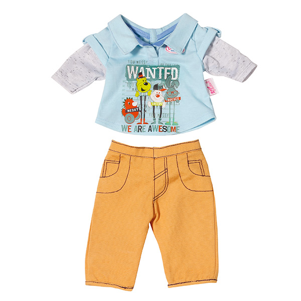 Zapf Creation Baby born 822-197 Бэби Борн Одежда Стильная для мальчика (в ассортименте) беби борн недорого зимняя красавица
