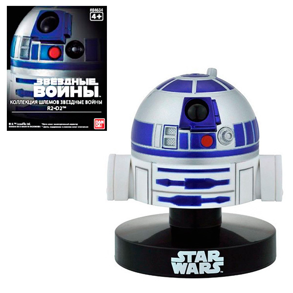Star Wars Bandai 84634 Звездные Войны Шлем Пилот R2-D2 6,5 см футболка классическая printio r2 d2 star wars