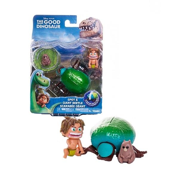 Good Dinosaur 62003 Хороший Динозавр Маленькая подвижная фигурка Спот и Жук игровые фигурки good dinosaur фигурка юный анкилозавр