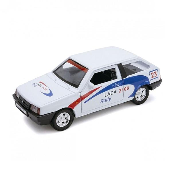 Welly 42377RY Велли Модель машины 1:34-39 LADA 2108 Rally автомобиль welly lada 2108 1 34 39 зеленый 42377
