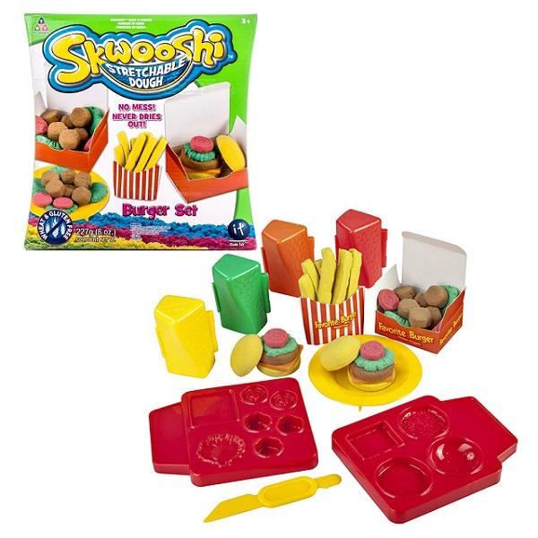 Skwooshi S30021 Сквуши Набор для творчества Бургер - масса для лепки и аксессуары skwooshi набор для лепки с аксессуарами бургер