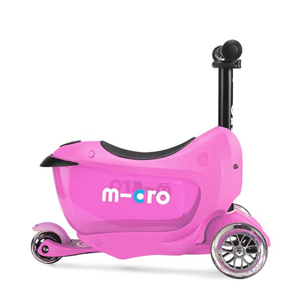 Micro MMD033 Самокат Mini2Go Deluxe Plus, розовый