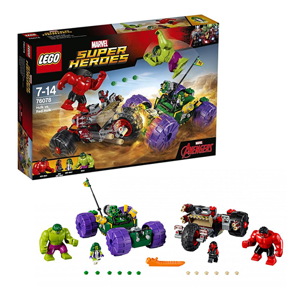 Lego Super Heroes 76078 Конструктор Лего Супер Герои Халк против Красного Халка lego education 9689 простые механизмы