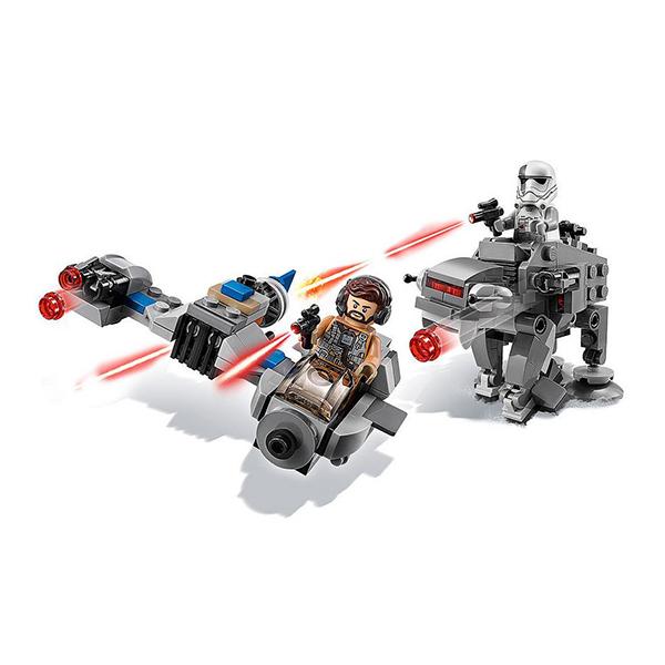 LEGO Star Wars 75195 Конструктор ЛЕГО Звездные Войны Бой пехотинцев Первого Ордена против спидера