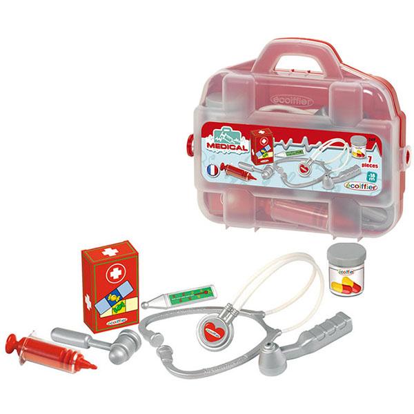 Ecoiffier 249S Набор доктора в чемоданчике - 7 предметов цена