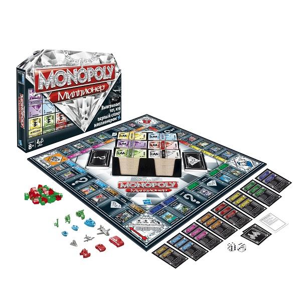 Hasbro Monopoly 98838 Игра Монополия Миллионер monopoly deal настольные игры карточная игра монополия веселье картон классика мальчики подарок