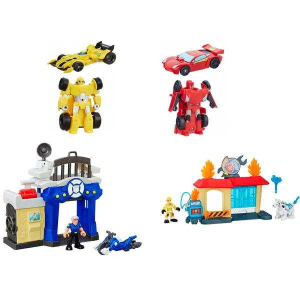 Hasbro Playskool Heroes B5582N Трансформеры Спасатели: Гоночные машинки + Спасатели игровой набор hasbro playskool heroes трансформеры спасатели гоночные машины спасатели b5582 b4963
