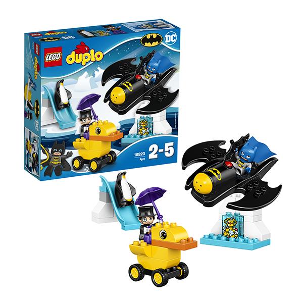 Lego Duplo 10823 Конструктор Лего Дупло Приключения на Бэтмолёте lego duplo конструктор гоночный автомобиль 10589