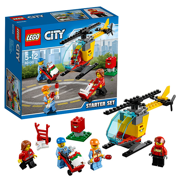 Lego City 60100 Конструктор Лего Город Набор для начинающих Аэропорт книга lego lego 978 5 699 78042 6 книга поймай шпиона с мини набором
