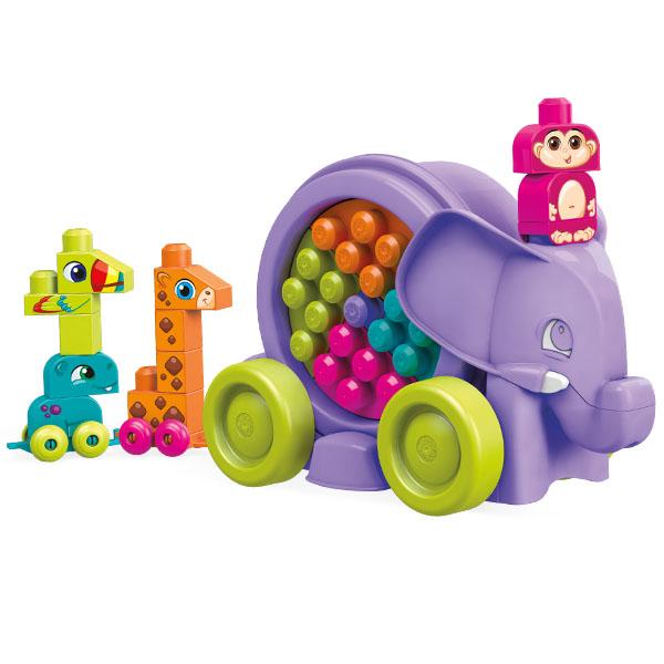 Mattel Mega Bloks FFY14 Мега Блокс Неуклюжий слон розовый mattel mega bloks cnd62 мега блокс маленькие транспортные средства в ассортименте