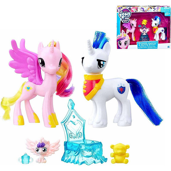 Hasbro My Little Pony B9160/B9848 Пони-модницы Принцесса Каденс и Шайнинг Армор